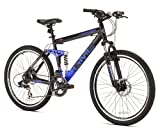 GMC Topkick Dual Suspension Mountain Bike, Matte Black/Blue