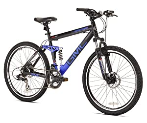 GMC Topkick Dual Suspension Mountain Bike, Matte Black/Blue
