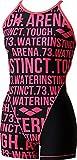 arena(アリーナ) レディース 練習用 水着 タフ・ミドルスパッツ 脚付きタイプ タフスーツ ブラック×ピンク SAR-6124W BKPK L
