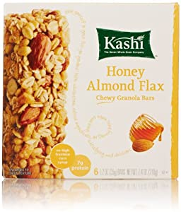 Kashi Chewy Granola Bar, Honey Almond Flax, 6 Count
