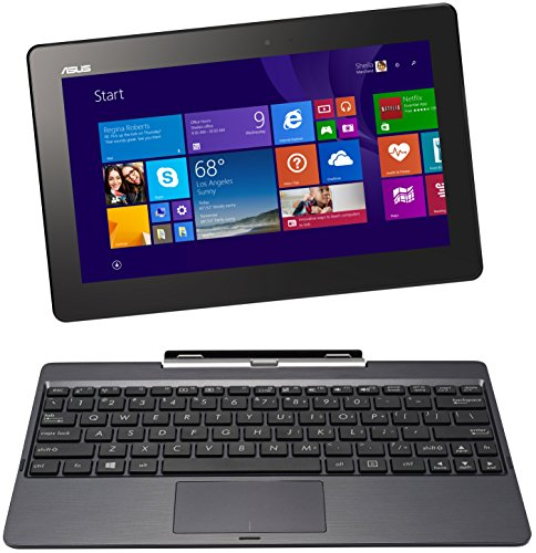 ASUS Transformer Book 10.1″ T100TAM-C1-GM Detachable 2-in-1 Touchscreen Laptop, 64GB (GREY METAL)