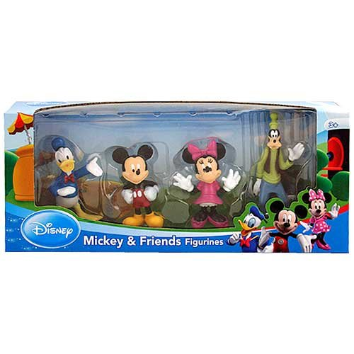 Disney> Mickey y sus amigos - el Pato Donald, Mickey, Minnie Mouse, Goofy y la figura Set