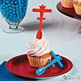 Plane Cupcake Picks with Spoons - 25 pcs