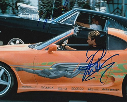 The Fast & The Furious (Paul Walker & Vin Diesel) Signed 8X10 Photo
