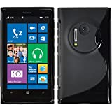 Custodia in Silicone per Nokia Lumia 1020 - S-Style nero - Cover PhoneNatic + pellicola protettiva