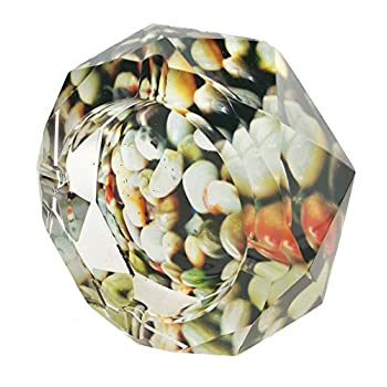 Beautiful Colorful Pattern Transparent Octangle Shape Diameter 3.9