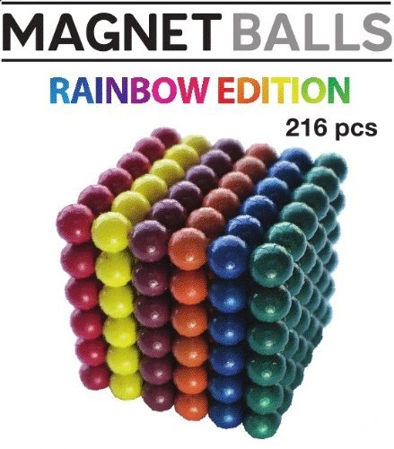 Magnet Balls Rainbow Edition - 6 Colors - Magnetic Earth Magnet Puzzle in Collector's Tin
