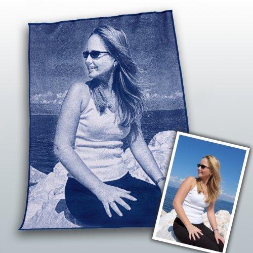 Unicade 719022036 Fotodecke ein Geschenk für jeden Anlass 150/200cm blau natur Wohndecke Decke