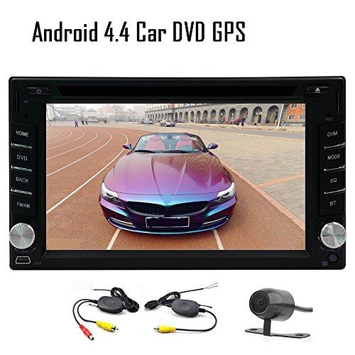 ワイヤレス防水/暗視バックカメラ付 12ヶ月保証 7インチ Android 5.1 クアッドコア 1.6GHz タッチパネル カーナビ カーオーディオ GPS 800x480 Bluetooth Wifi OBD2対応 CD/DVD-R/RW/DVD-RAM/CD動画/MP3/MP4/WMA/JPEG等のフォーマット対応(リージョンフリー) 1G ram+8G rom 3Gドングル/ミラーリング/DVR機能追加可