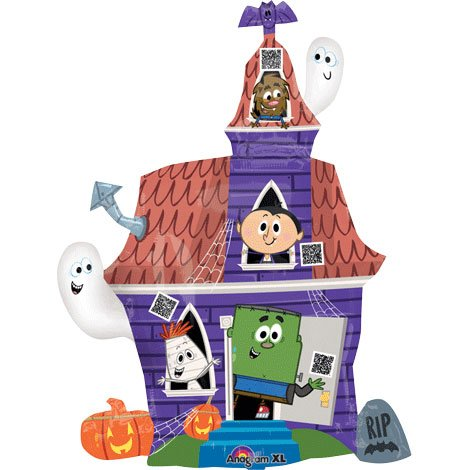 "Halloween Spooky House SuperShape Foil Balloon 33""/83cm - 1"