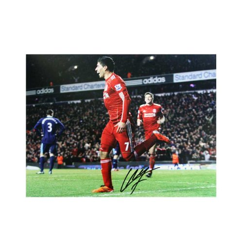 Luis Suarez Signed Photo: First Goal