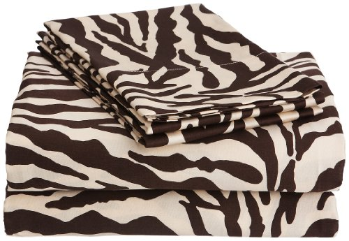 Scent Sation Brown Zebra Wild Life King Pillow Cases, Set of 2