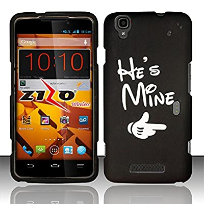 For ZTE Max N9520 / Boost MAX (Boost Mobile) Rubberized Design Cover - He`s Mine DP from ZIZO