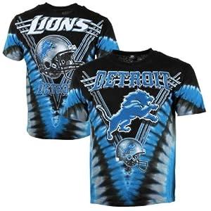 Detroit Lions Logo V Tie Dye T-shirt by Liquid Blue