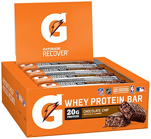 Gatorade Whey Protein Recover Bars, Chocolate Chip, 2.8 ounce bars (12 Count) (Come Ready Protein Bars compare prices)