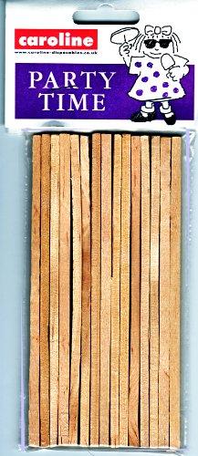 15 bâtonnets en bois pour pommes d'amour 13 cm