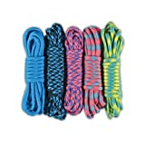 Paracord Planet 550lb Paracord Combo Crafting Kits - 5 Colors 50 Feet Total (ARTSY)