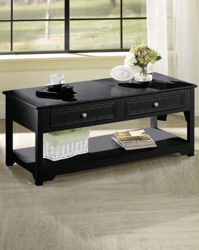 Oxford Coffee Table, 4-DRAWER, BLACK