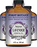 First Botany Cosmeceuticals Bulgarian Lavender Essential Oil with a Glass Dropper, 4 oz