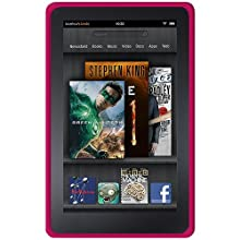 Amzer 92508 Silicone Skin Jelly Case - Hot Pink For Amazon Kindle Fire