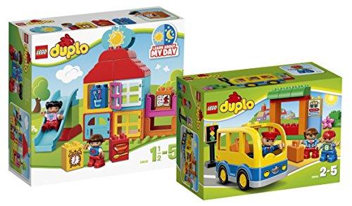 LEGO Duplo Set - Mein erstes Spielhaus (10616) und Schulbus (10528) - 9120063893782