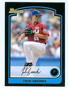 Zack Greinke baseball card (Royals Arizona Diamondbacks star) 2003 Bowman #BDP134 Rookie