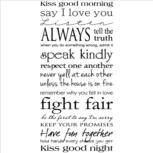 Kiss Me Good Morning...Kiss Me Good Night wall saying vinyl lettering home de...