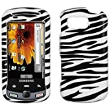Premium Cell Phone Hard Cover Case for Samsung Moment M900 (Choose from 6 Designs; Clear, Blue Rubberized, Black Rubberized, Hot Pink Rubberized, Zebra, Purple Rubberized) (Zebra)