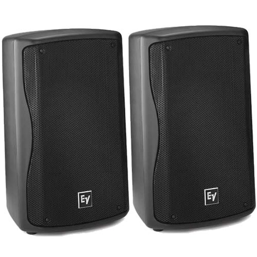 """Ev Electro Voice Zx1-90 Black Compact 8"""" Dj Pa Monitor Speakers Pair (2) Zx1 New"""