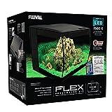 Fluval Flex 57 - 15 Gallon Nano Glass Aquarium Kit (Color: Black, Tamaño: 15 Gallon)