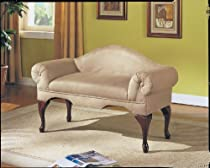 Hot Sale Acme 05630 Aston Microfiber Rolled Arm with Back Bench, Beige Finish