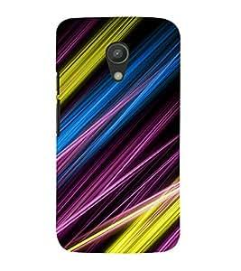 printtech Colored Streaks Abstract Back Case Cover for Motorola Moto G2 X1068 / Motorola Moto G (2nd Gen)