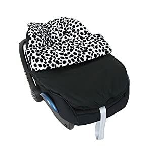 Isabella Alicia Born To Be Wild Luxury Dalmatian Print Car Seat Cosey Toes 0+ Infant Carrier