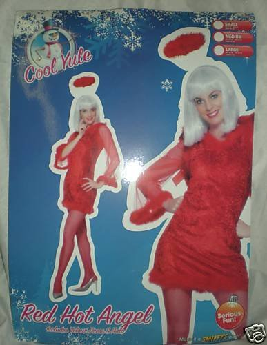 Smiffy's Adult Red Hot Angel Christmas Fancy Dress Costume Size Large (h60)