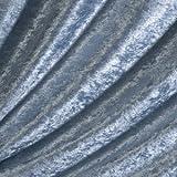 Ice Blue Crushed Velvet Fabric