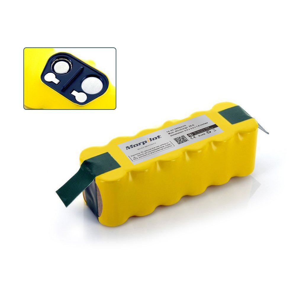 (UL Approval) Morpilot® 3800mAh Replacement Ni-MH Battery for Irobot Roomba 500 510 530 532 533 535 536 540 545 550 552 560 562 570 580 581 585 595 600 620 630 650 660 700 760 770 780 790 800 870 880