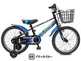 ビスマーク 16インチ ブラックブルー 補助輪付き 組み立て式 子供用自転車 幼児自転車