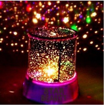 Tech  LED Star Night Light Projector Lamp Colorful Bedroom Starry Light Bed  Side Lamp. Star Projector Night Lights