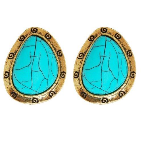 Chelsea Doll Turquoise Swirl Earrings