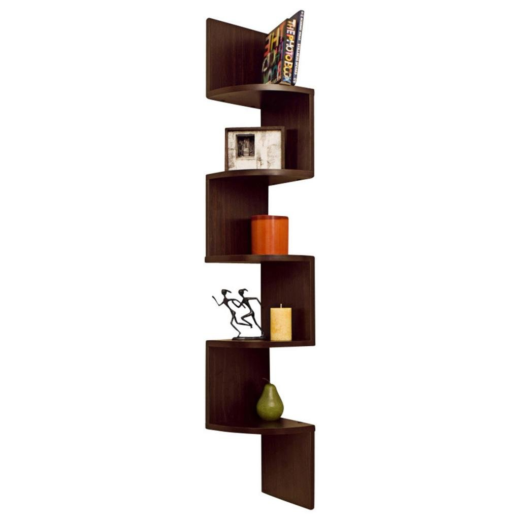 Corner wall mount shelf
