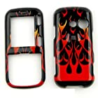 CASE FOR LG Rumor 2, Cosmos, Banter, Script HARD COVER WILD FIRE FLAME ORANGE RED BLACK TP877 Rumor 2, Cosmos, Banter, Script, LX265 Alltel, Sprint, Verizon, U.S Cellular, Virgin Mobile