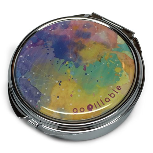 gopillable LARGE Watercolor Sky Decorative Pill Box for Bag or Purse