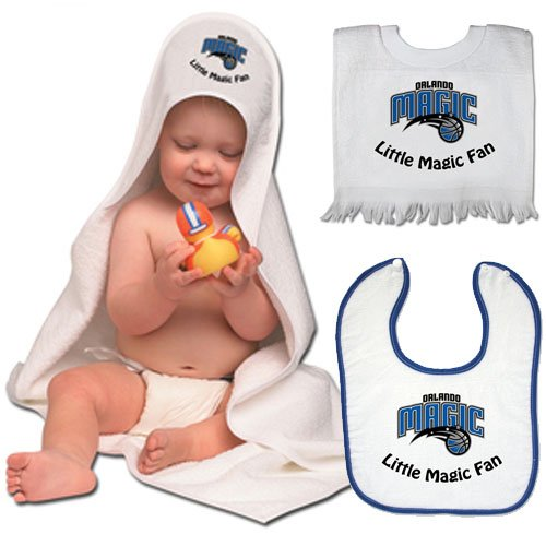 Nba Mcarthur Orlando Magic 3-Piece Hooded Bath Towel & Bibs Set front-811711