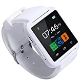 PMJ【日本語対応】スマートウォッチ[Bluetooth接続] IOS&Android対応 タッチパネルTFT 着信・通話・音楽・歩数計(ホワイト)