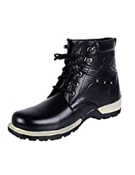 Freedom Daisy 572 Men's Black Faux Leather Boots