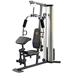 XR 55 Home Exercise Gold\'s Gym, weight stack, padded seat, preacher pad, chart