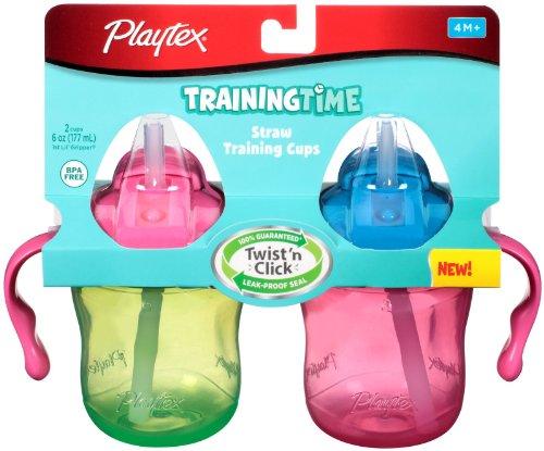 Playtex Trainingtime Straw Cup - Boy - 6 Oz - 2 Ct front-908505