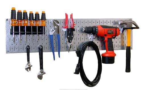 Images for Wall Control 30-WRR-100GVB Galvanized Steel Pegboard Starter Kit
