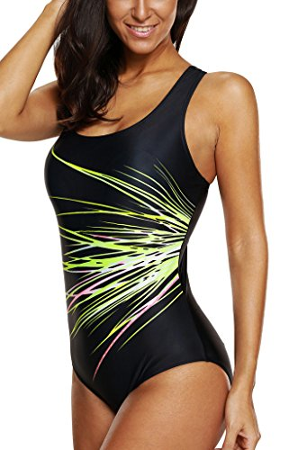 c1d497ae03a CharmLeaks One Piece Swimsuits Athletic Racerback Bathing Suits Racing  Swimwear