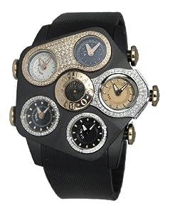 Jacob & Co. Grand JGR1-25 Black PVD with Metallic Dials 52.5mm 2.14Ct Diamond Watch